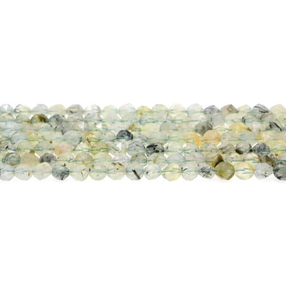 Prehnite Round Large Cut 6mm - Loose Beads