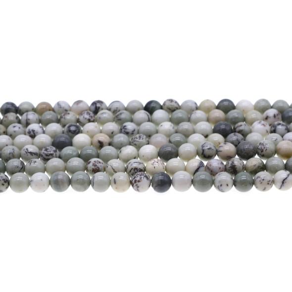 Pine Tree Dendritic Jasper Round 6mm - Loose Beads