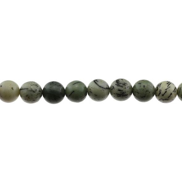 Pine Tree Dendritic Jasper Round 10mm - Loose Beads