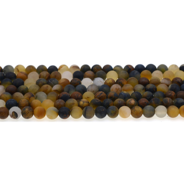 Pietersite Round Frosted 6mm - Loose Beads