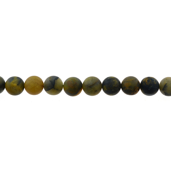 Pietersite Round Frosted 10mm - Loose Beads