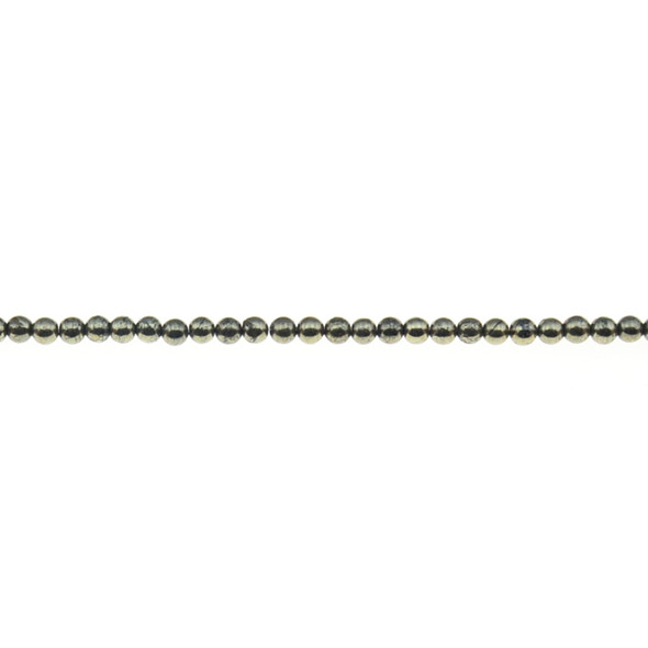 Pyrite Round 3mm - Loose Beads