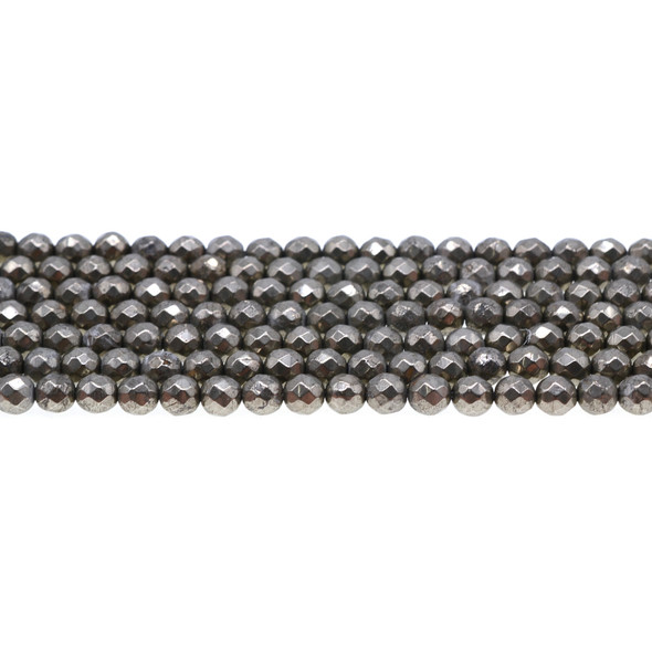 Pyrite Round Faceted 6mm - Loose Beads