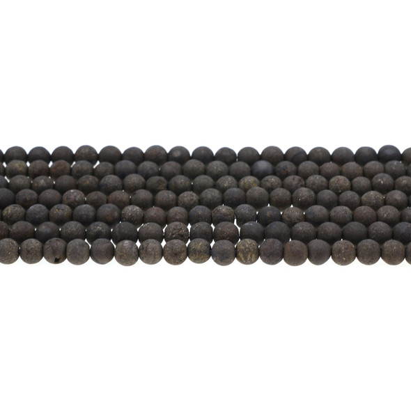 Pyrite Round Frosted 6mm -Loose Beads