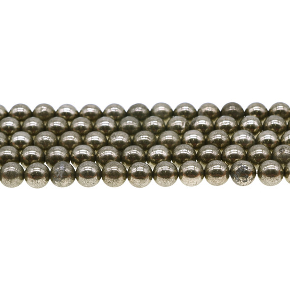 Pyrite Round 8mm - Loose Beads