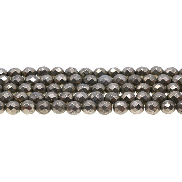 Pyrite Round Faceted 8mm - Loose Beads