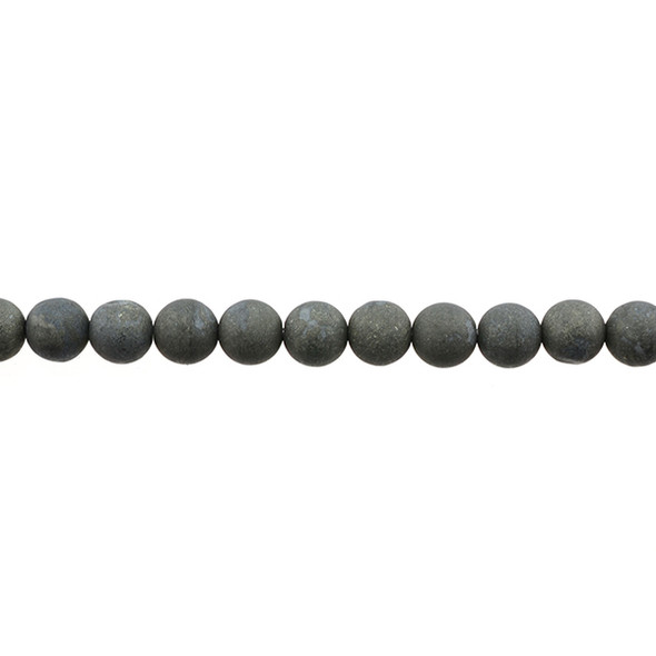 Pyrite Round Frosted 8mm -Loose Beads