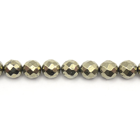 Pyrite Round Faceted 10mm - Loose Beads