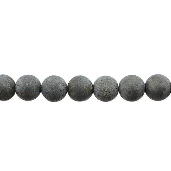 Pyrite Round Frosted 12mm -Loose Beads