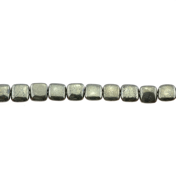 Pyrite Square Puff 8mm x 8mm x 4mm - Loose Beads