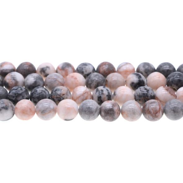 Pink Zebra Jasper Round 10mm - Loose Beads