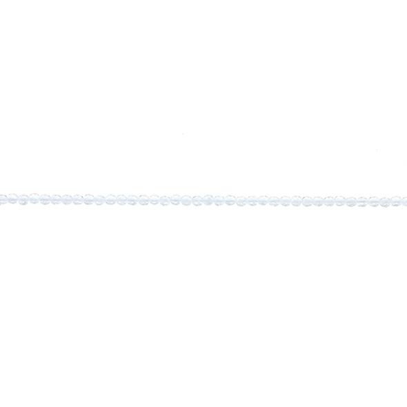 Natural Quartz Round Faceted 2mm - Loose Beads