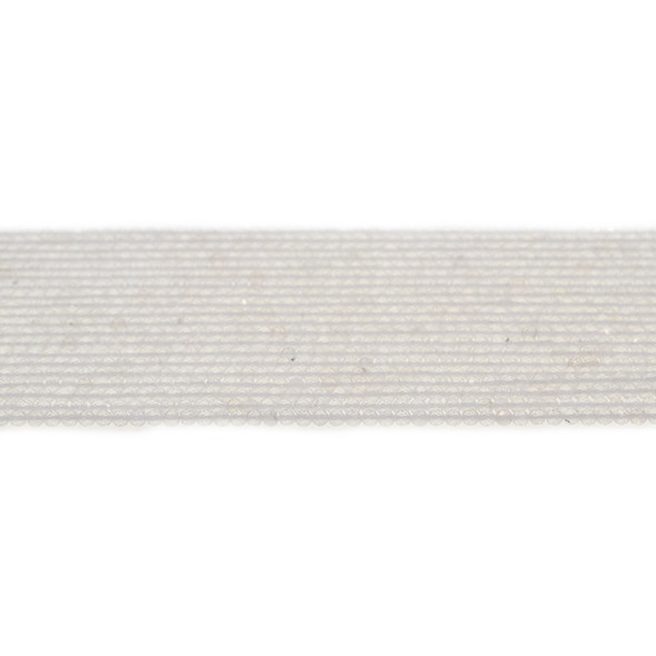 Natural Quartz Round Faceted Diamond Cut 2mm - Loose Beads