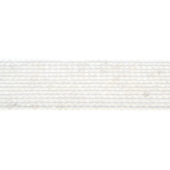 Natural Quartz Round Faceted Diamond Cut 3mm - Loose Beads