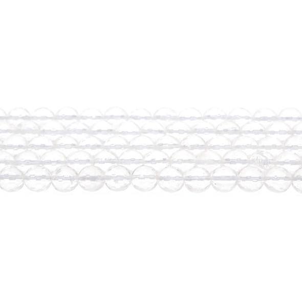 Natural Quartz Round Faceted 8mm - Loose Beads