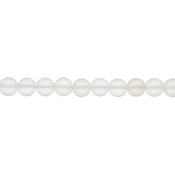 Natural Quartz Round Frosted 10mm - Loose Beads
