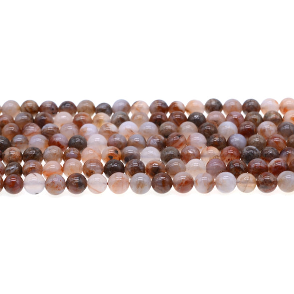 Red Blood Lace Agate Round 6mm - Loose Beads