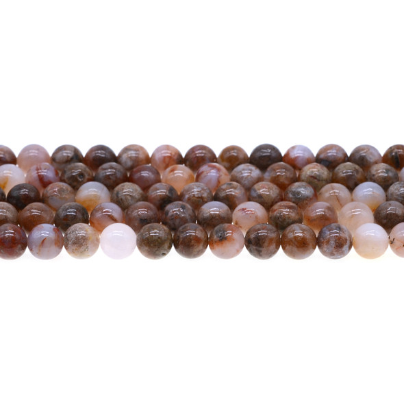 Red Blood Lace Agate Round 8mm - Loose Beads