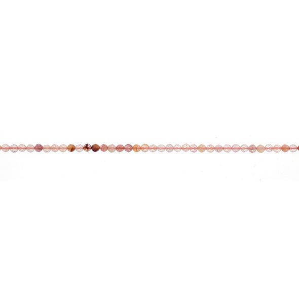 Red Quartz Round Faceted Diamond Cut 2mm - Loose Beads