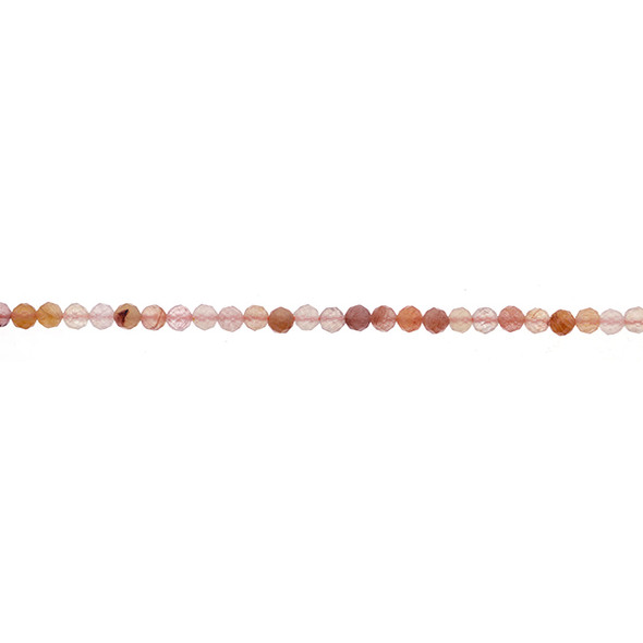 Red Quartz Round Faceted Diamond Cut 4mm - Loose Beads