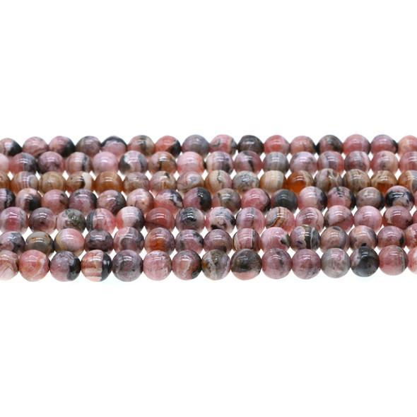Argentina Rhodochrosite Round 6mm - Loose Beads