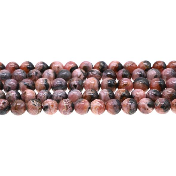 Argentina Rhodochrosite Round 8mm - Loose Beads