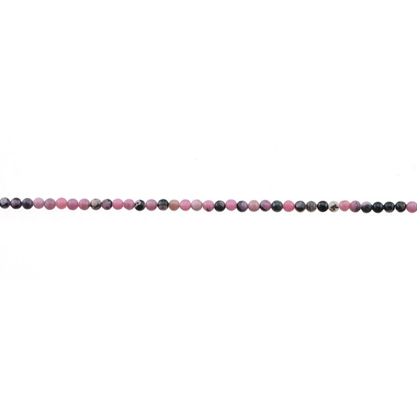 Rhodonite Round 2mm - Loose Beads