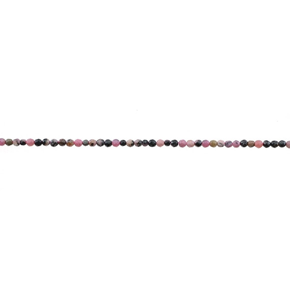Rhodonite Round Faceted 2mm - Loose Beads