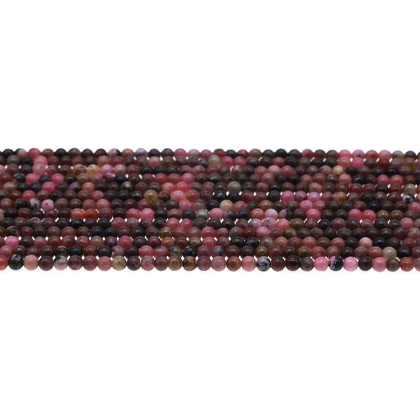 Rhodonite Round 3mm - Loose Beads