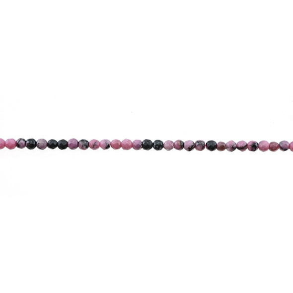 Rhodonite Round Faceted 3mm - Loose Beads