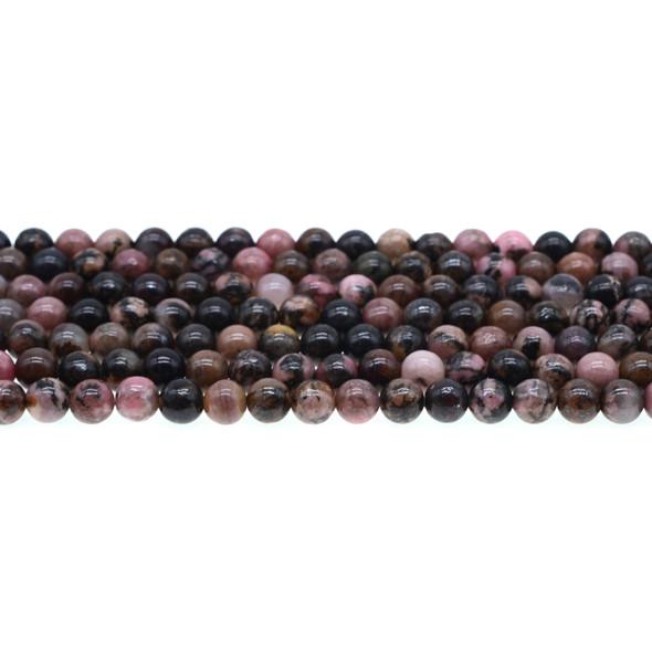 Rhodonite Round 6mm - Loose Beads