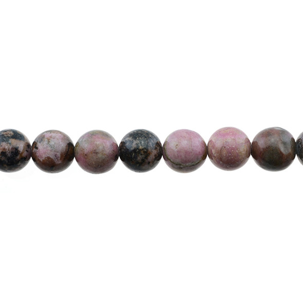 Rhodonite Round 10mm - Loose Beads