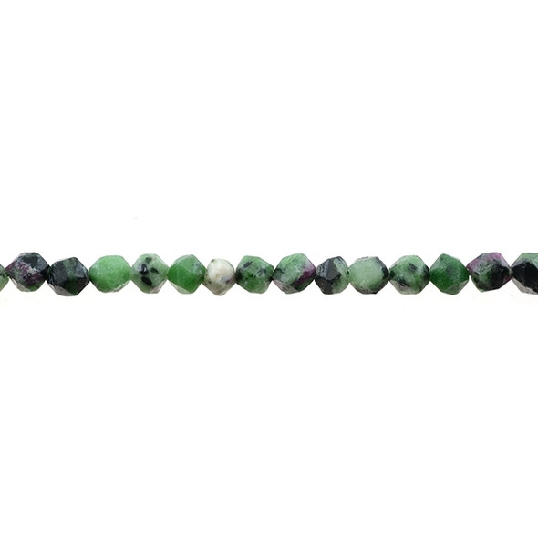 Ruby in Zoisite Anyolite Round Large Cut 8mm - Loose Beads