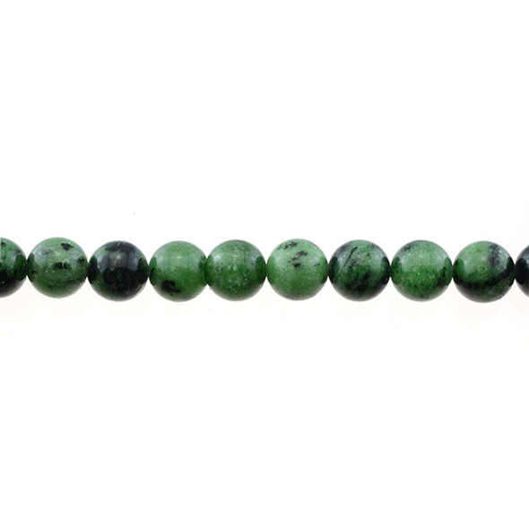 Ruby in Zoisite Anyolite Round 10mm - Loose Beads