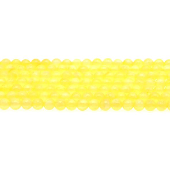 Yellow Rainbow Jade Round 6mm - Loose Beads