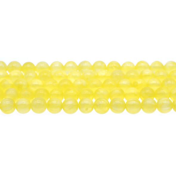 Yellow Rainbow Jade Round 8mm - Loose Beads