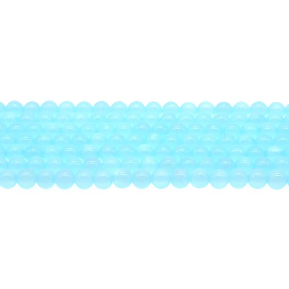 Aqua Rainbow Jade Round 6mm - Loose Beads