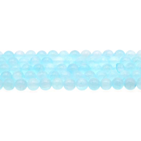 Aqua Rainbow Jade Round 8mm - Loose Beads