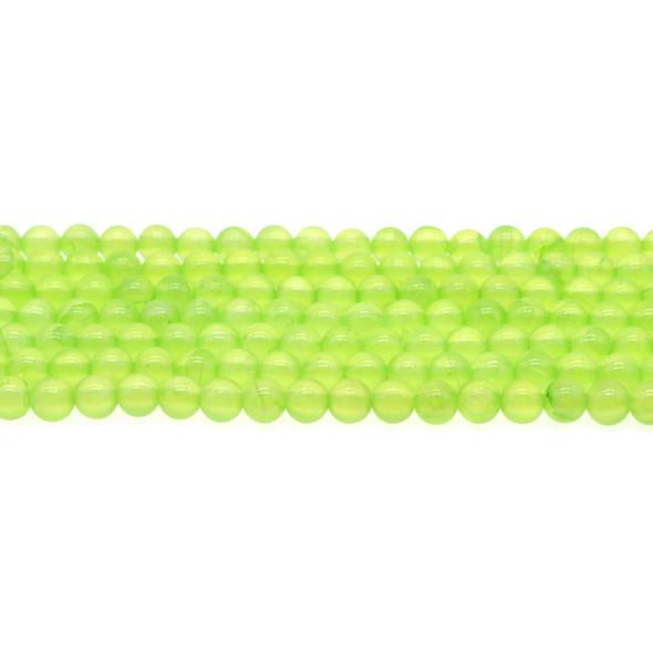 Green Rainbow Jade Round 6mm - Loose Beads
