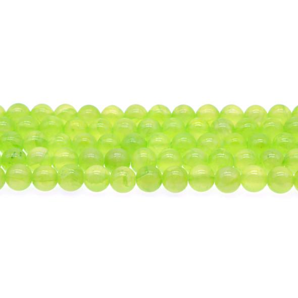 Green Rainbow Jade Round 8mm - Loose Beads