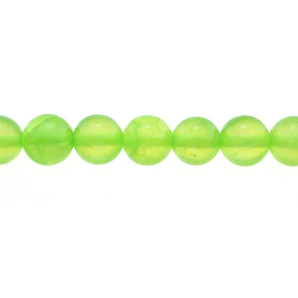 Green Rainbow Jade Round 10mm - Loose Beads