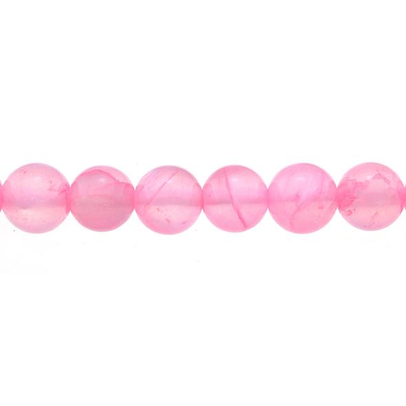 Pink Rainbow Jade Round 10mm - Loose Beads