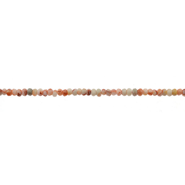 Red Line Jasper Roundel Faceted 4mm x 4mm x 2mm - Loose Beads
