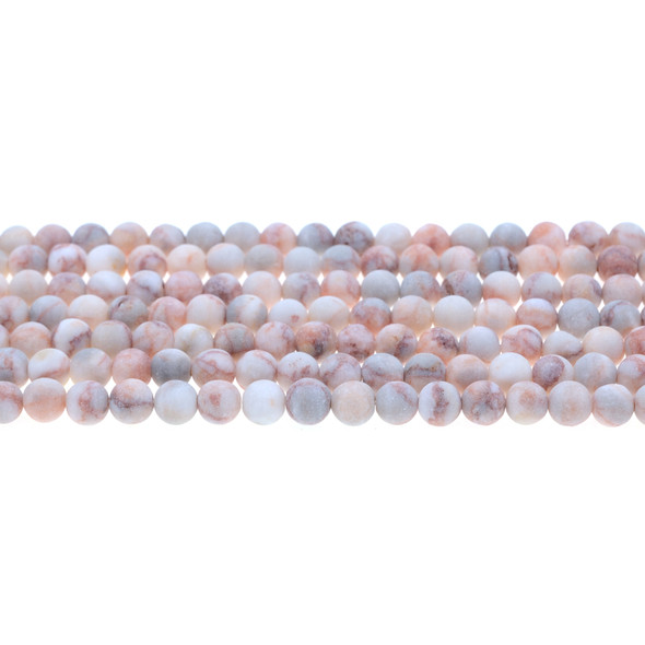 Red Line Jasper Round Frosted 6mm - Loose Beads