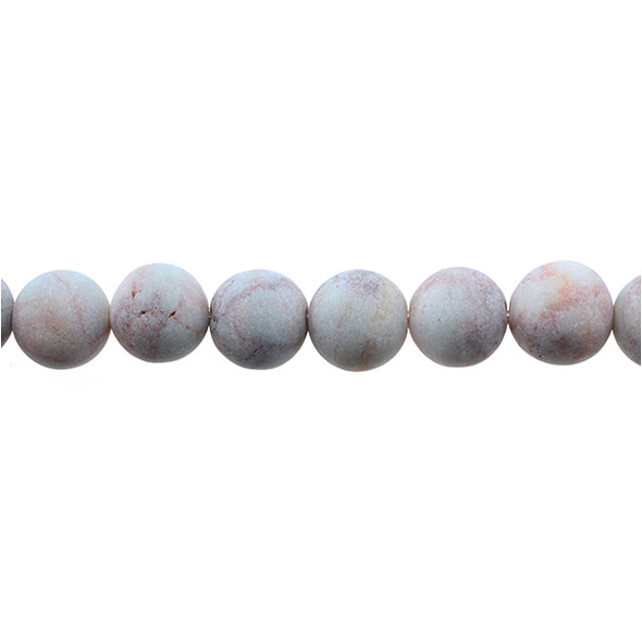 Red Line Jasper Round Frosted 12mm - Loose Beads