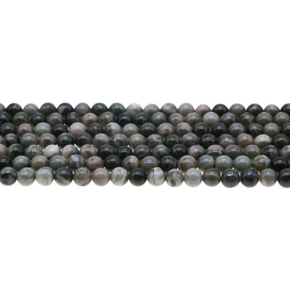Rainbow Mud Jasper Round 6mm - Loose Beads