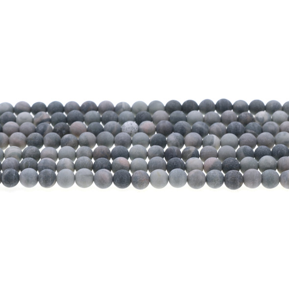 Rainbow Mud Jasper Round Frosted 6mm - Loose Beads