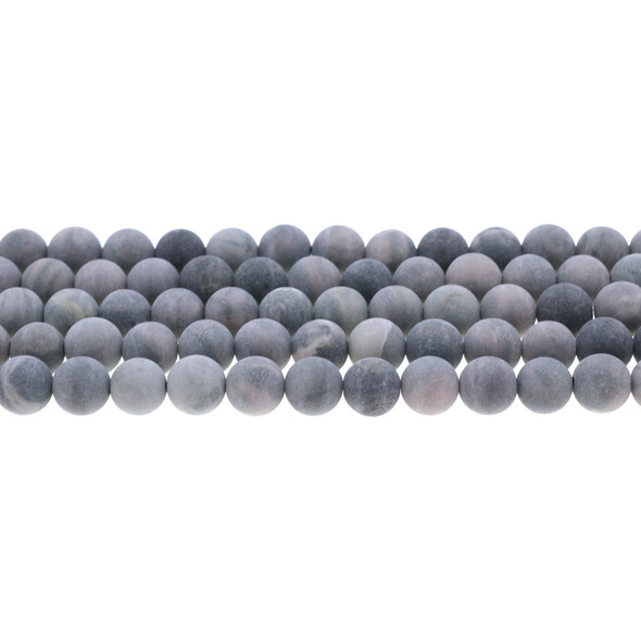 Rainbow Mud Jasper Round Frosted 8mm - Loose Beads