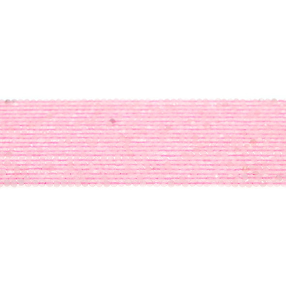 Rose Quartz Round Faceted Diamond Cut 2mm - Loose Beads
