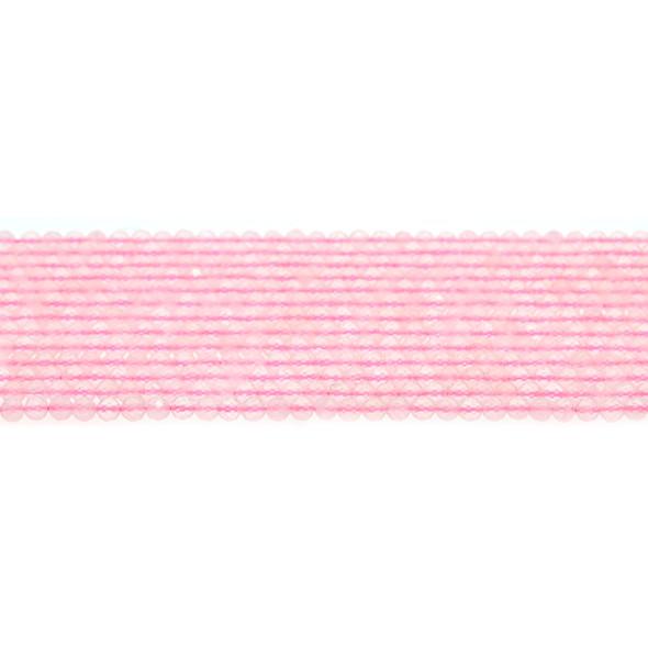 Rose Quartz Round Faceted Diamond Cut 3mm - Loose Beads